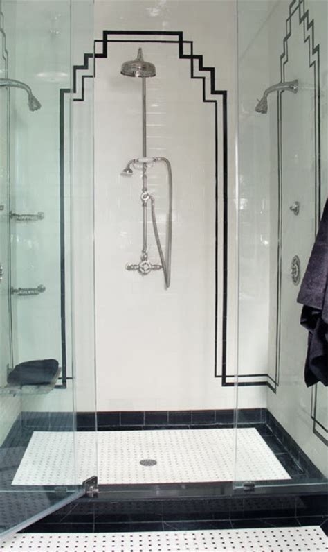 art deco bathroom tile renov8or the retro modern appeal of the black and white