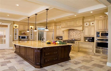 big kitchen island ideas luxury design ideas for a large kitchen