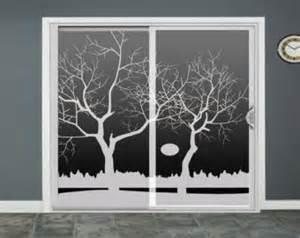 glass door decals winter tree lake glass door decals sliding door decal door