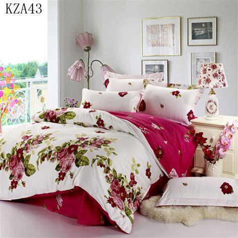 patterned cotton sheet set beautiful flower pattern bedding set 4pcs 100 cotton