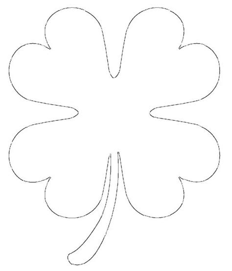 clover leaf pattern horses free printable four leaf clover templates large small