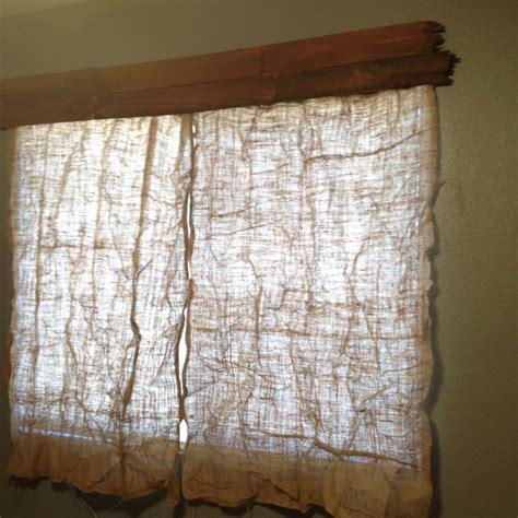 burlap sack curtains burlap sack curtains diy projects pinterest