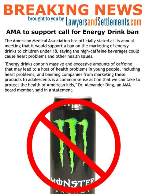 energy drink ban 18 energy drink ban gets ama support