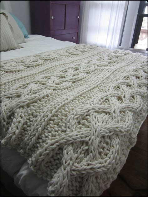 chunky cable knit throw blanket cable knit blanket made to order by ozarksmomma on etsy