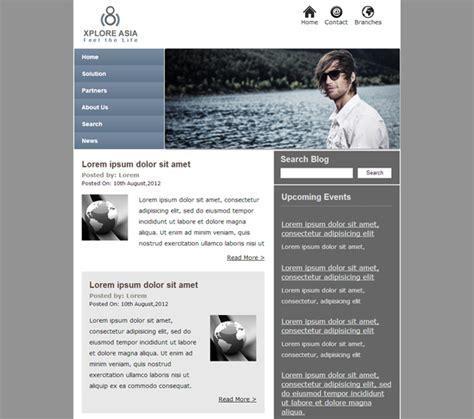 template html css responsive free xplore asia free business news responsive html template