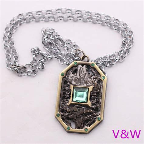 Dota 2 Keychains Earth Spirit 2015 new dota2 jewelry novelty dota 2 earth spirit logo chain neckalce jewelry