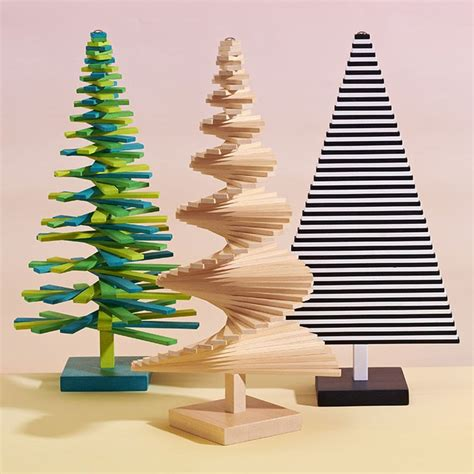modern christmas tabletop green christmas tree in gift