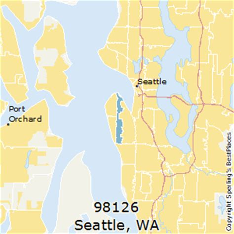 seattle map by zip code best places to live in seattle zip 98126 washington