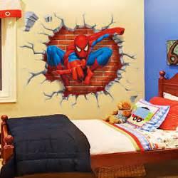 Spiderman Home Decor Spiderman Boys Kids Bedroom Wall Sticker Home Decor Mural