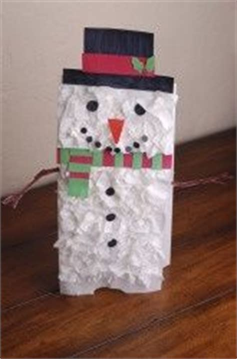 Paper Bag Snowman Craft - 10 best images about paper bag crafts on