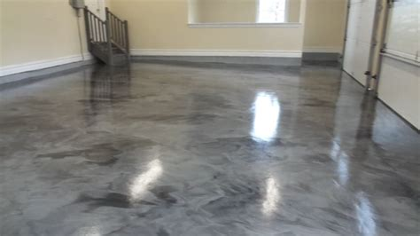 Contemporary Garage in Middlesex   epoxy flooring, gray