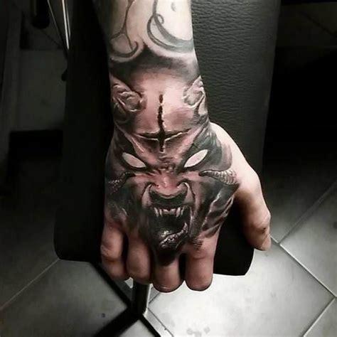 3d tattoo in hand demon 3d hand tattoo tattoo tattooed tattoos hand