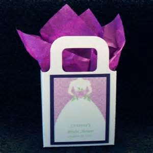 Wedding Shower Favor Bags by Bridal Shower Favor Bags White Bag With Purple By