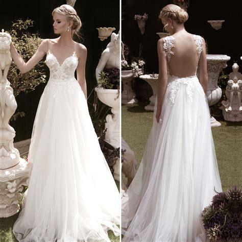 Unique Wedding Dress by Luxury Sheer Wedding Dresses 2016 Beaded Lace V Neck