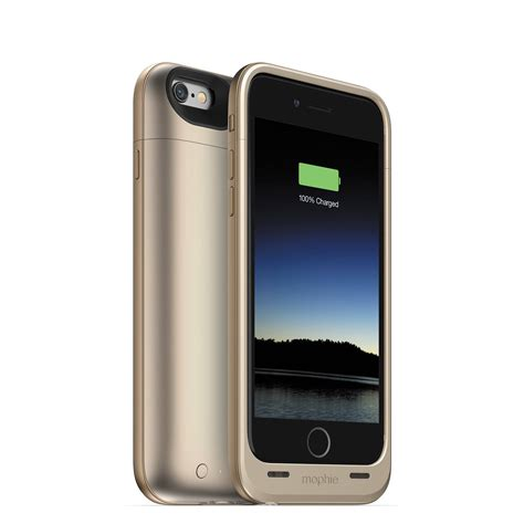 h iphone 6 mophie juice pack air for iphone 6 6s gold 3045 b h photo