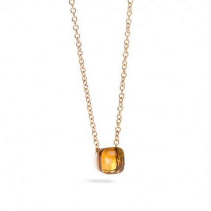 pomellato nudo replica pomellato nudo necklace replica with madeira quartz and