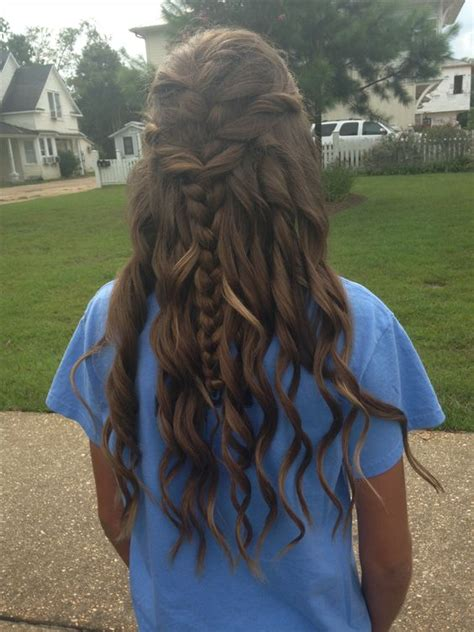 down hairstyles for dance homecoming hairstyles half up half down long hair