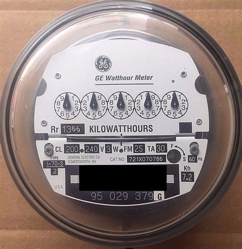 general electric general electric watthour meter kwh i 70s 240v fm2s