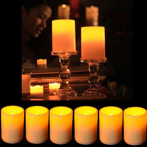 battery powered tea lights battery powered flameless led table l candle flickering