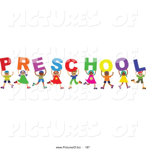 painting preschool free vector clipart of a diverse of happy children