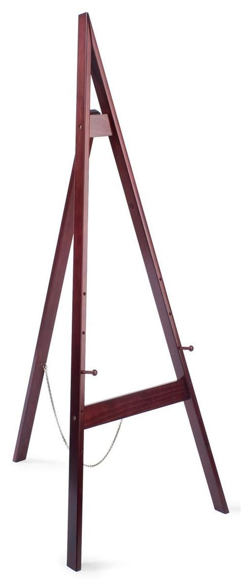 Wood Easel for Floor with Height Adjustable Display Pegs