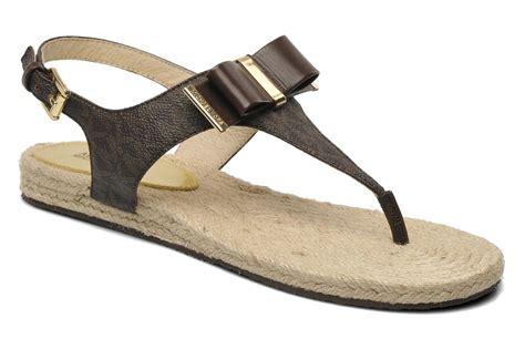 michael kors meg sandals michael michael kors meg sandals in brown at sarenza