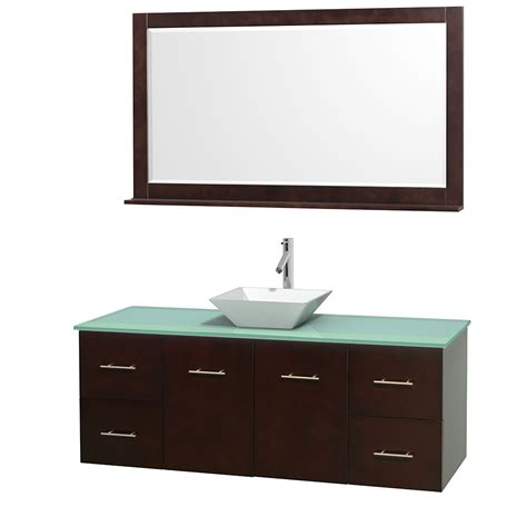 Green Glass Vanity by Wyndham Collection Wcvw00960sesggd2wm58 Centra 60 Inch
