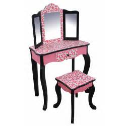 Children S Vanity Table Set Uk Teamson Fashion Prints Vanity Table Stool Set