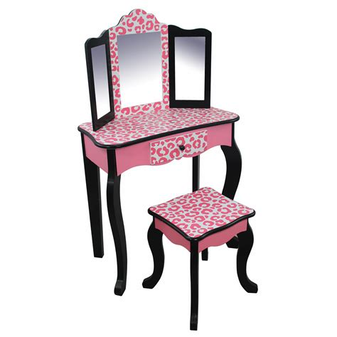 Kid Vanity Set by Teamson Fashion Prints Vanity Table Stool Set