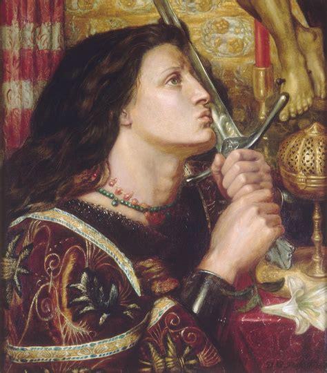 joan of arc joan of arc kisses the sword of liberation dante gabriel