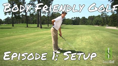 back friendly golf swing body friendly golf tip save your back with this setup