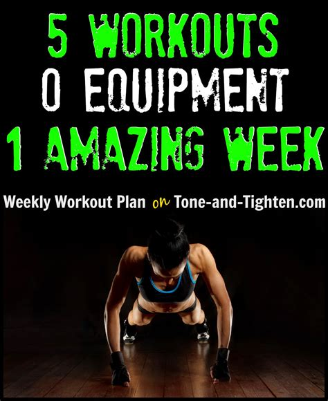 5 great at home workouts without weight best bodyweight