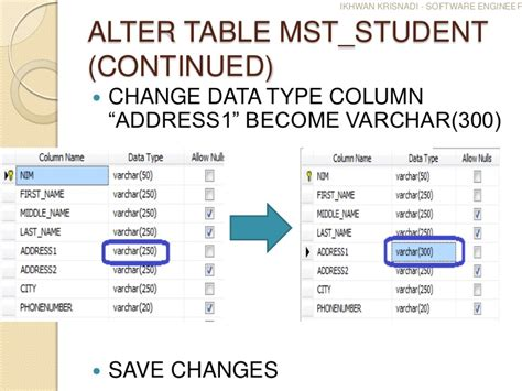 Alter Table Change Column Type How To Solve Saving Changes Is Not Permitted On Sql Server