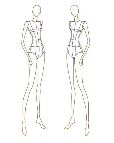how to draw fashion templates how to draw fashion croquis