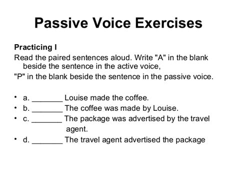 active and passive voice