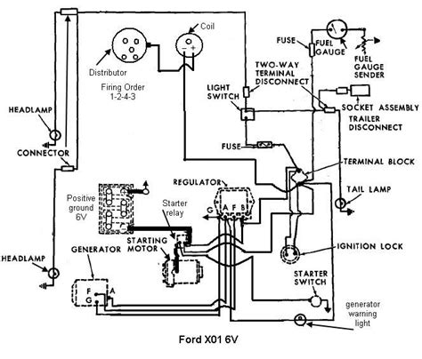 8n 6 volt positive ground wiring diagram wiring diagram