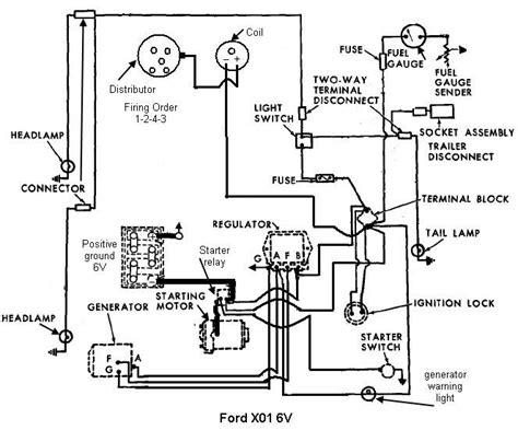 8n 6 volt positive ground wiring diagram wiring diagram