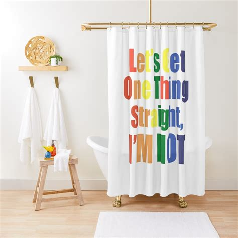 Gay Lesbian Art Quote Gift Collection Shower Curtain By