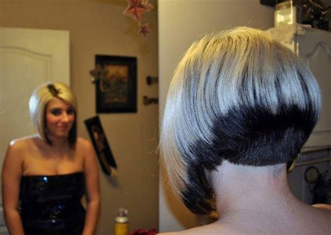 two color shaved nape short bob pinterest shaved 66 best over 50 spikey hair cuts images on pinterest