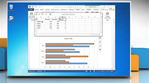 how to make a graph how to make a bar graph in word 2013
