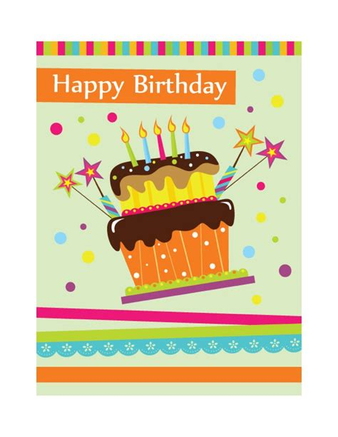 early birthday card template 40 free birthday card templates template lab