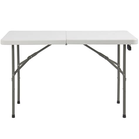 Folding Plastic Picnic Table Folding Table 4 Portable Plastic Indoor Outdoor Picnic Dining C Tables Ebay