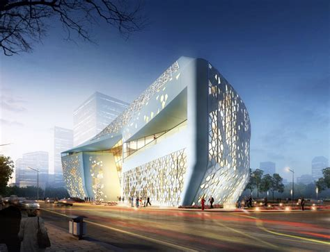 islamic pattern building sure architecture s perforated yinchuan exhibition center