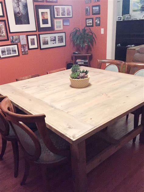 build  diy square farmhouse table plans