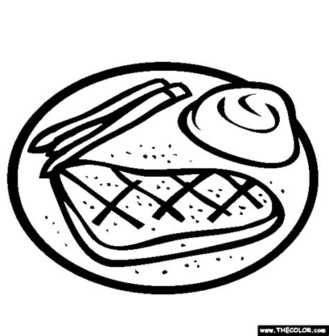 Steak Coloring Page free coloring pages thecolor