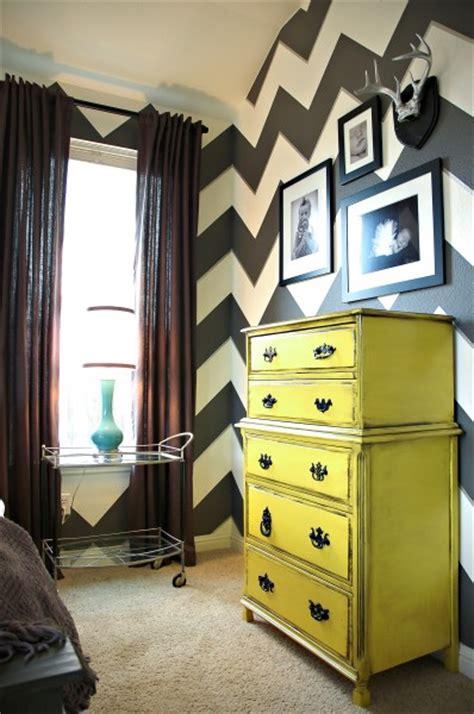 Yellow Bedroom Dresser Yellow Dresser Chevron Wall Gray White Bedroom