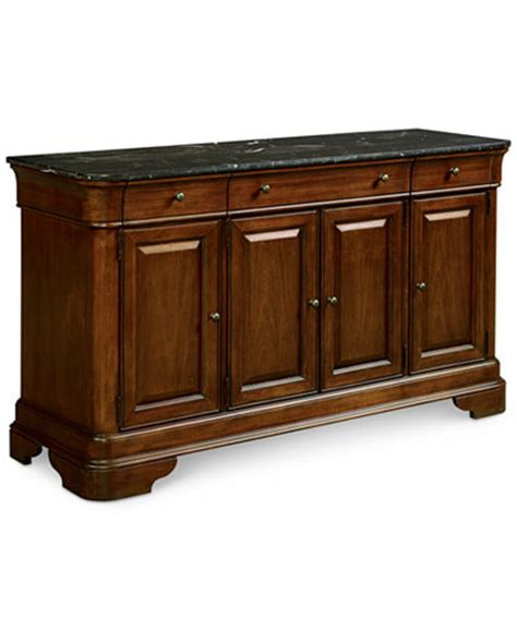 la credenza bordeaux marble top credenza only at macy s furniture