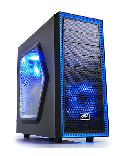 Casing Sharkoon Dg7000 Blue Atx buy deepcool tesseract black blue atx window no psu