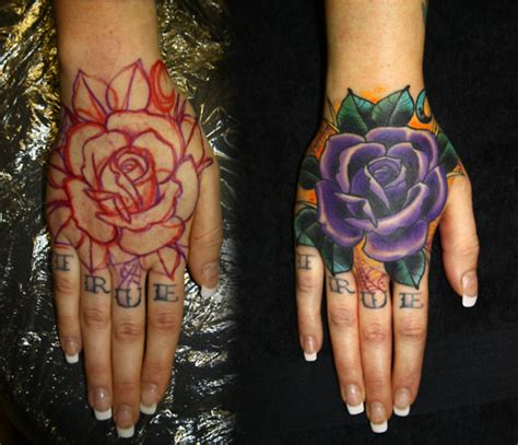 rose tattoo on hand tumblr hand tattoos