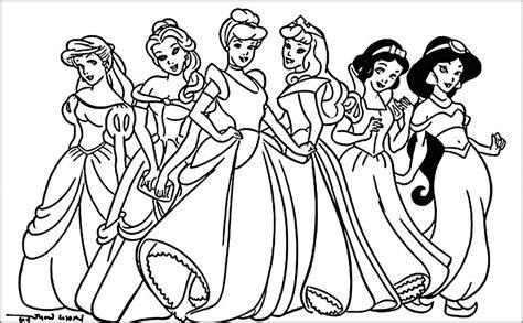 Princess color sheets disney princess coloring pages to
